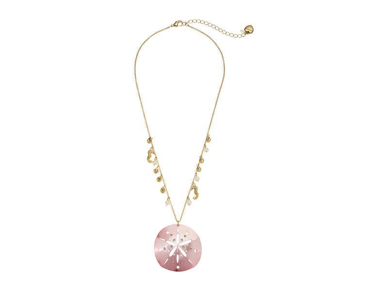 ベッツィジョンソン レディース ネックレス・チョーカー・ペンダントトップ アクセサリー Sand Dollar Pendant Necklace Pink
