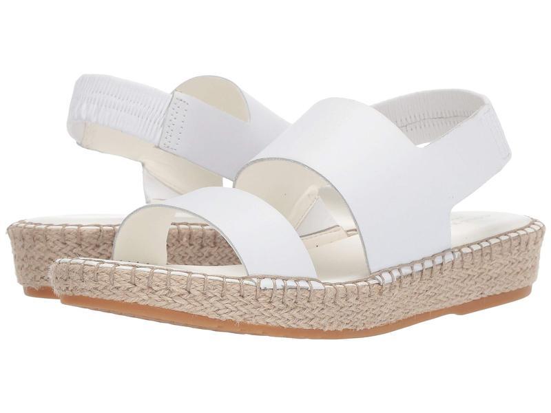 コールハーン レディース サンダル シューズ Cloudfeel Espadrille Sandal Optic White Lea