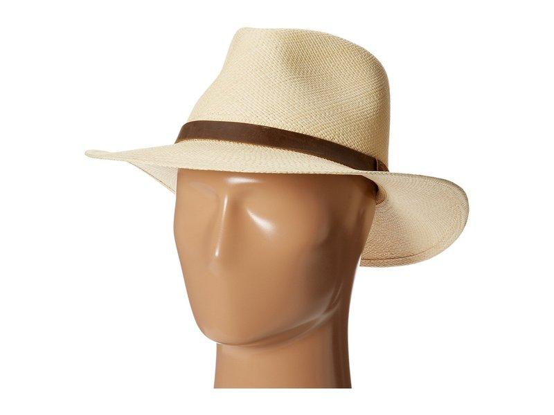 トッミーバハマ メンズ 帽子 アクセサリー Panama Outback Hat with Leather Trim Natural