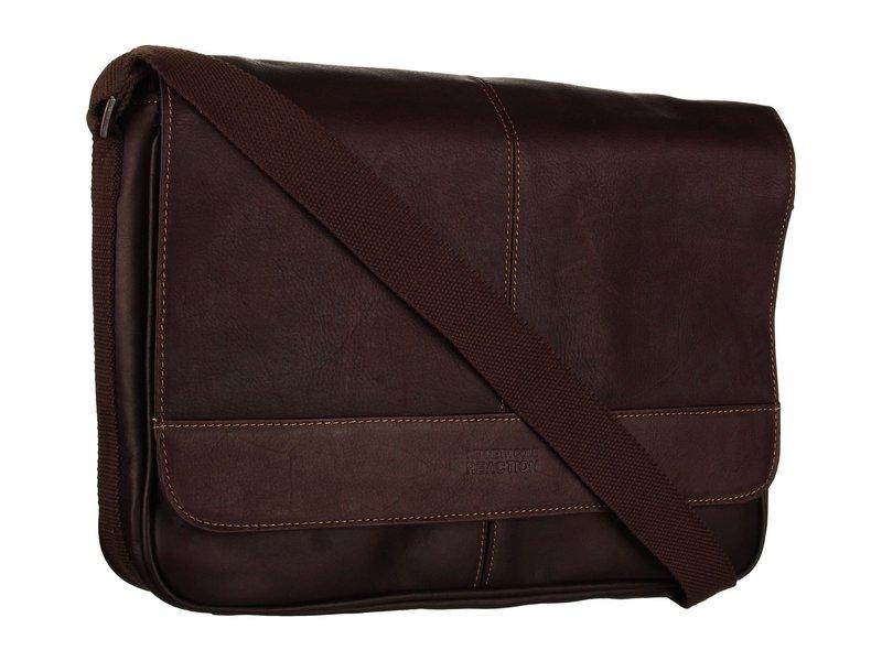 ケネスコール メンズ ショルダーバッグ バッグ Risky Business Single Gusset Messenger Bag Dark Brown
