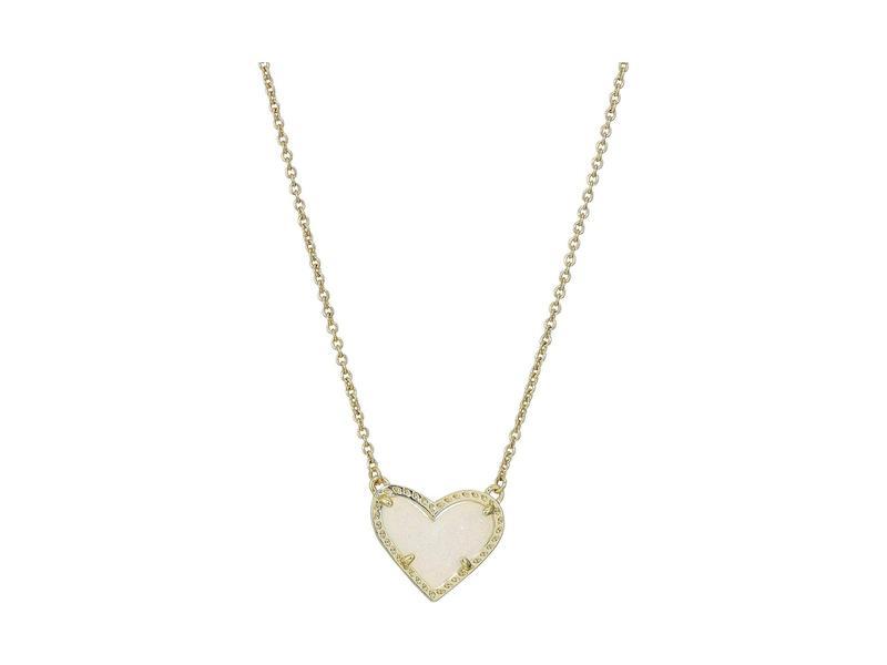 ケンドラスコット レディース ネックレス・チョーカー・ペンダントトップ アクセサリー Ari Heart Short Pendant Necklace Gold Iridescent
