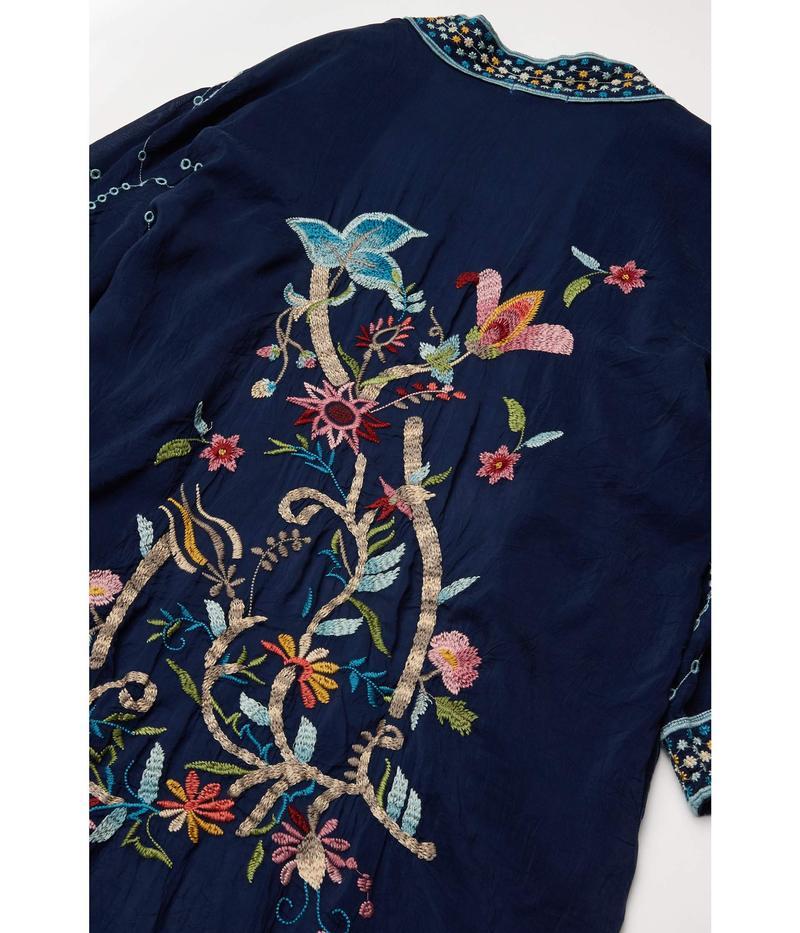 ジョニーワズ レディース シャツ トップス Summer Kimono Blue NighttrdQsh