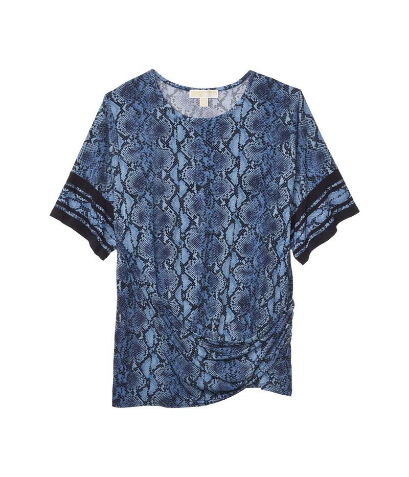 マイケルコース レディース シャツ トップス Plus Size Snake Border Tie T-Shirt Chambray
