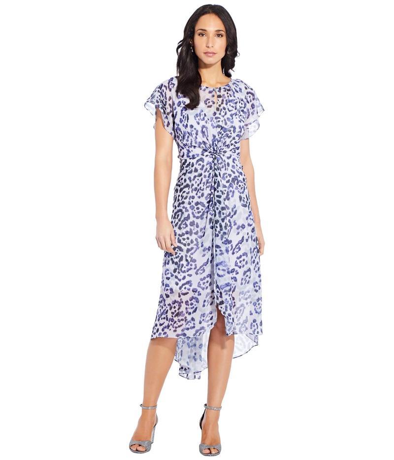 アドリアナ パペル レディース ワンピース トップス Plus Size Watercolor Leopard Twist Dress Purple Multi