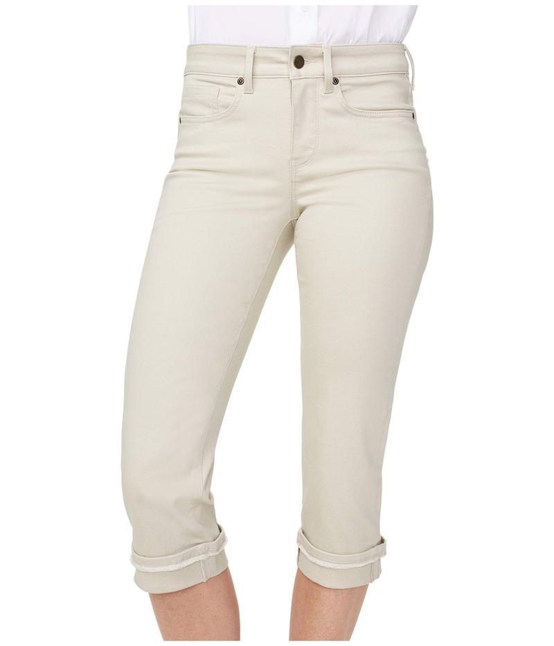 エヌワイディージェイ レディース デニムパンツ ボトムス Marilyn Crop Jeans with Frayed Cuffs in Feather Feather