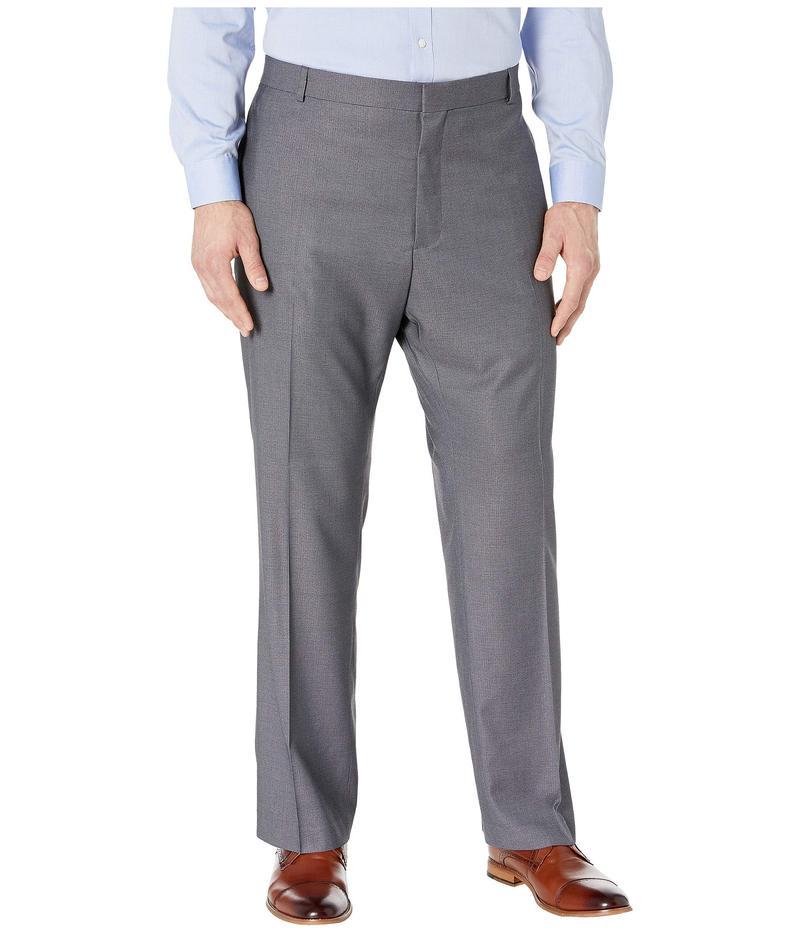 ペリーエリス メンズ カジュアルパンツ ボトムス Big & Tall Classic Fit Non Iron Performance Nailhead Dress Pants Brushed Nickel