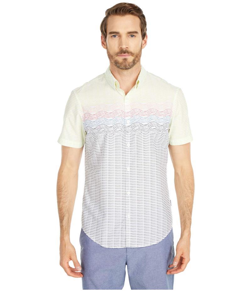 オリジナルペンギン メンズ シャツ トップス Engineered Stripe Shirt Limelight