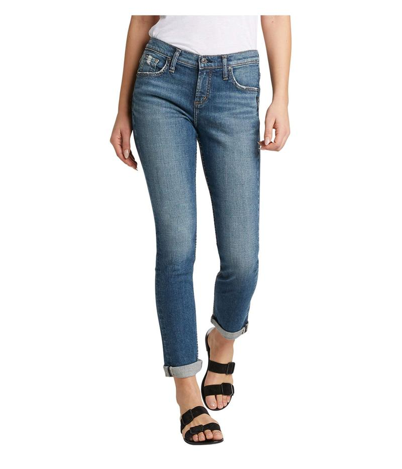 シルバー ジーンズ レディース デニムパンツ ボトムス Beau Mid-Rise Relaxed Skinny Slim Leg Jeans L27348SJL383 Indigo 1