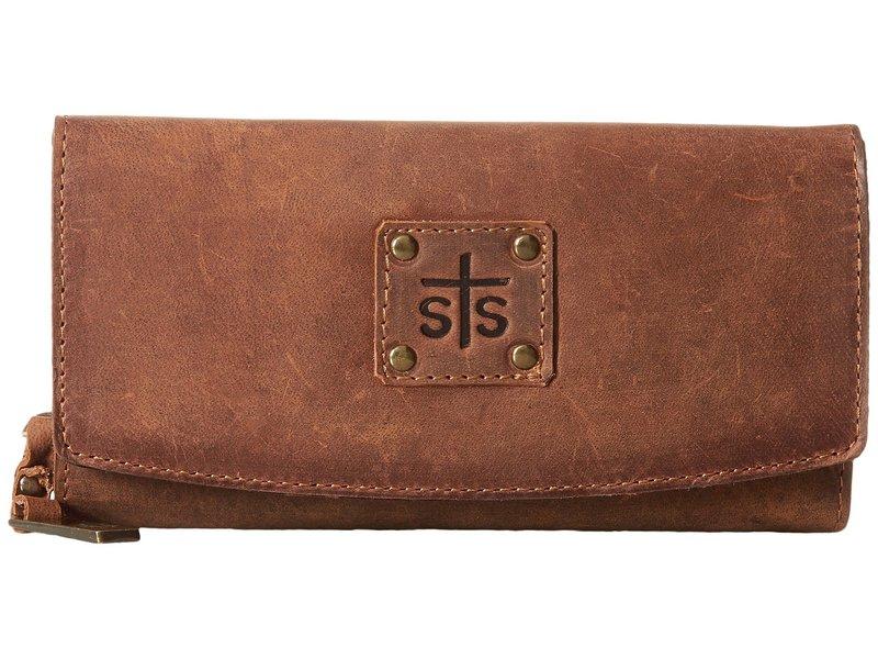 エスティエスランチウェア レディース 財布 アクセサリー The Baroness Tri-Fold Wallet Brown