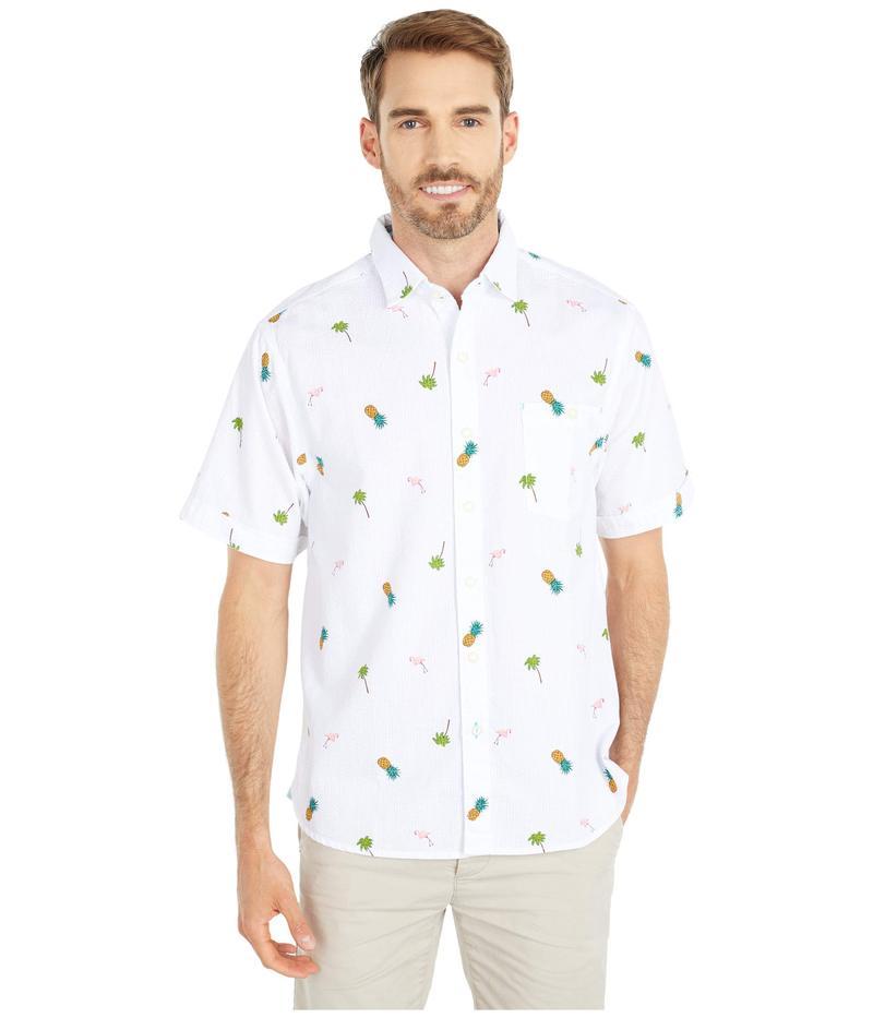 トッミーバハマ メンズ シャツ トップス Flamingo Tango Woven Shirt White