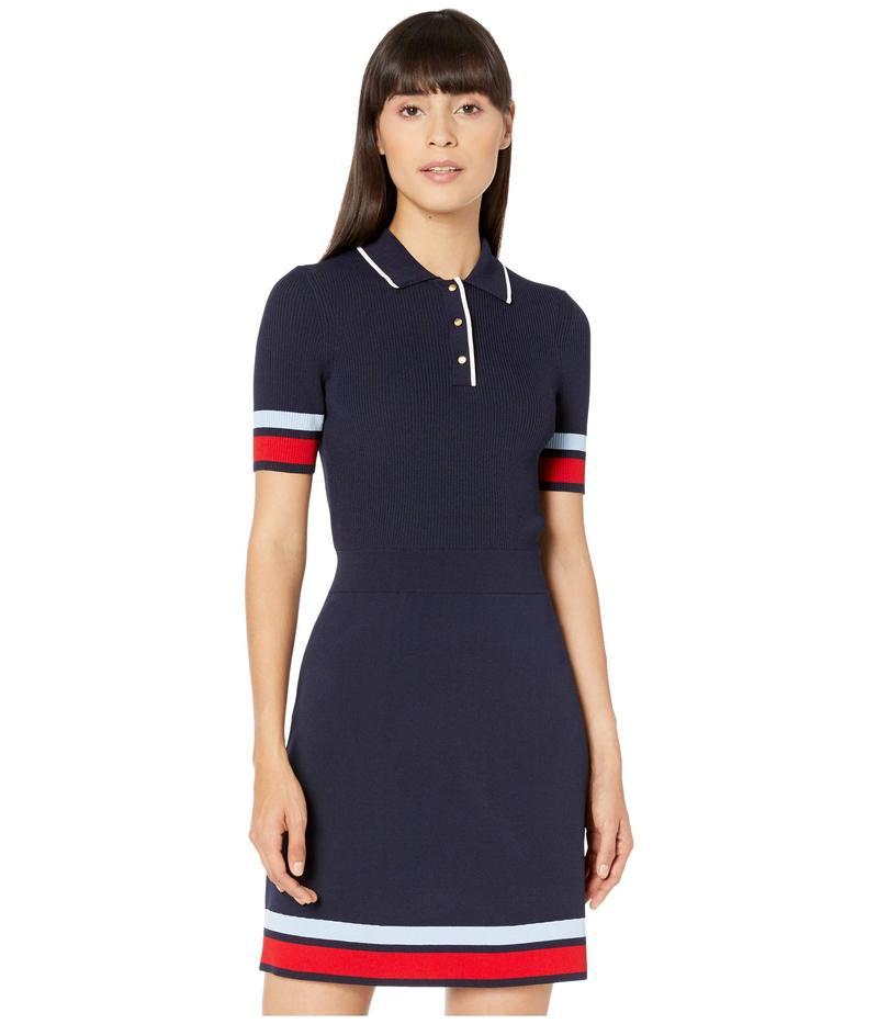 テッドベーカー レディース ワンピース トップス Yniaa Rib Detail Mockable Dress Navy