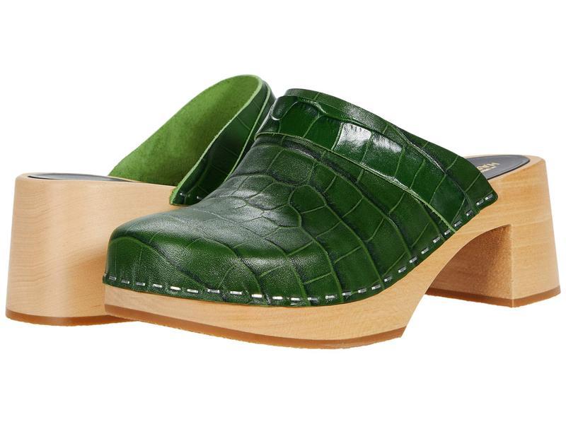 スウェディッシュハズビーンズ レディース サンダル シューズ Dagny Dark Green Croc