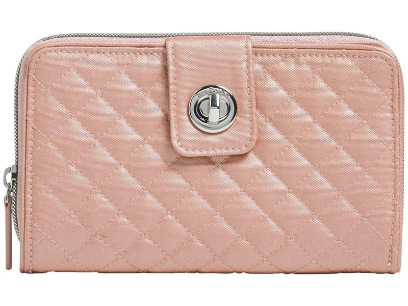 ベラブラッドリー レディース 財布 アクセサリー RFID Turnlock Wallet Rose Quartz