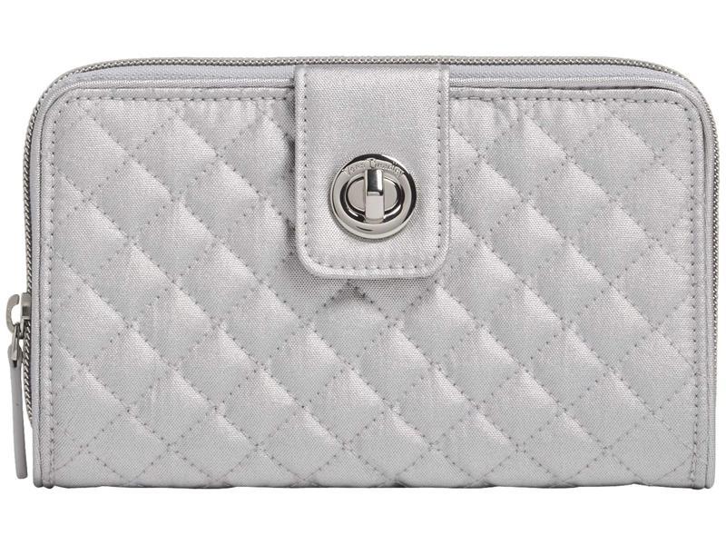 ベラブラッドリー レディース 財布 アクセサリー RFID Turnlock Wallet Silver Pearl