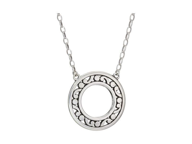 ブライトン レディース ネックレス・チョーカー・ペンダントトップ アクセサリー Contempo Open Ring Necklace Silver