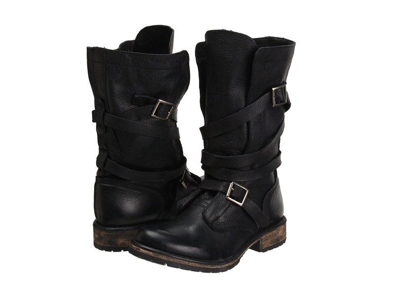 スティーブ マデン レディース ブーツ・レインブーツ シューズ Banddit Boot Black Leather