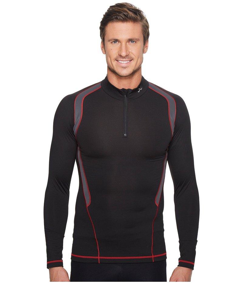 CW-X メンズ シャツ トップス Long Sleeve Insulator Web Top Black/Grey/Red