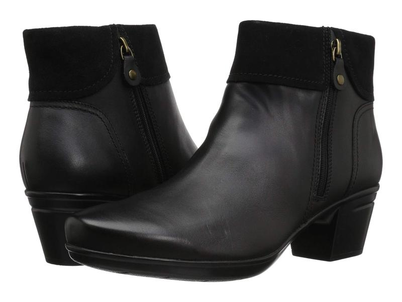 クラークス レディース ブーツ・レインブーツ シューズ Emslie Twist Black Leather/S