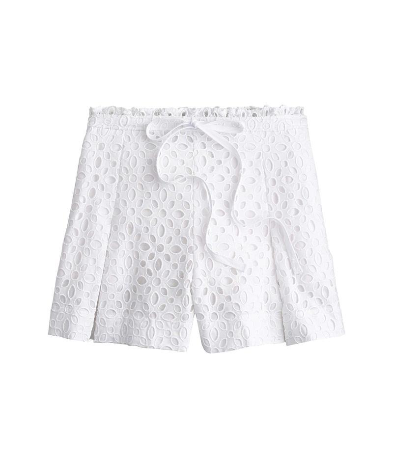 ジェイクルー レディース ハーフパンツ・ショーツ ボトムス Belair Eyelet Shorts White