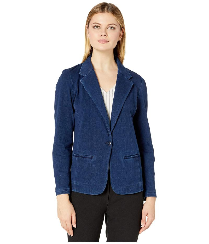 送料無料 サイズ交換無料 リバプール レディース アウター コート Dark 2020モデル Canadian 毎日続々入荷 Fitted Blazer Knit Denim