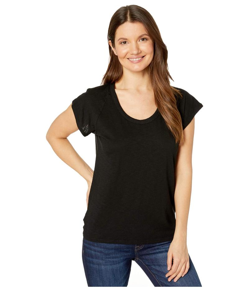 リラピー レディース シャツ トップス Short Sleeve Raglan Flame Modal T-Shirt Black