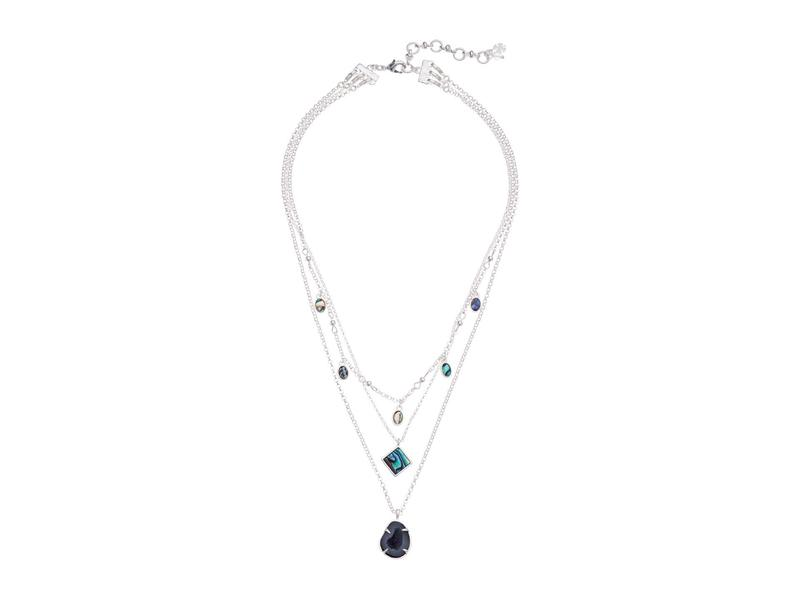 ラッキーブランド レディース ネックレス・チョーカー・ペンダントトップ アクセサリー Abalone Geode Layer Necklace Silver