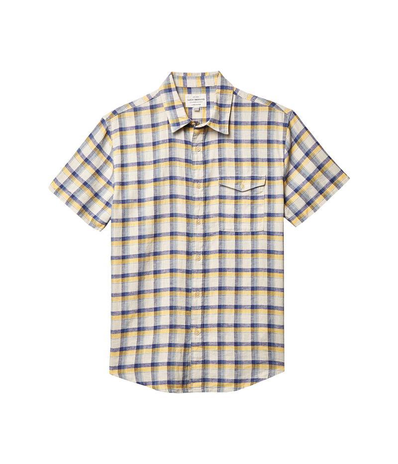 ラッキーブランド メンズ シャツ トップス Plaid Monroe Short Sleeve Shirt Yellow Plaid