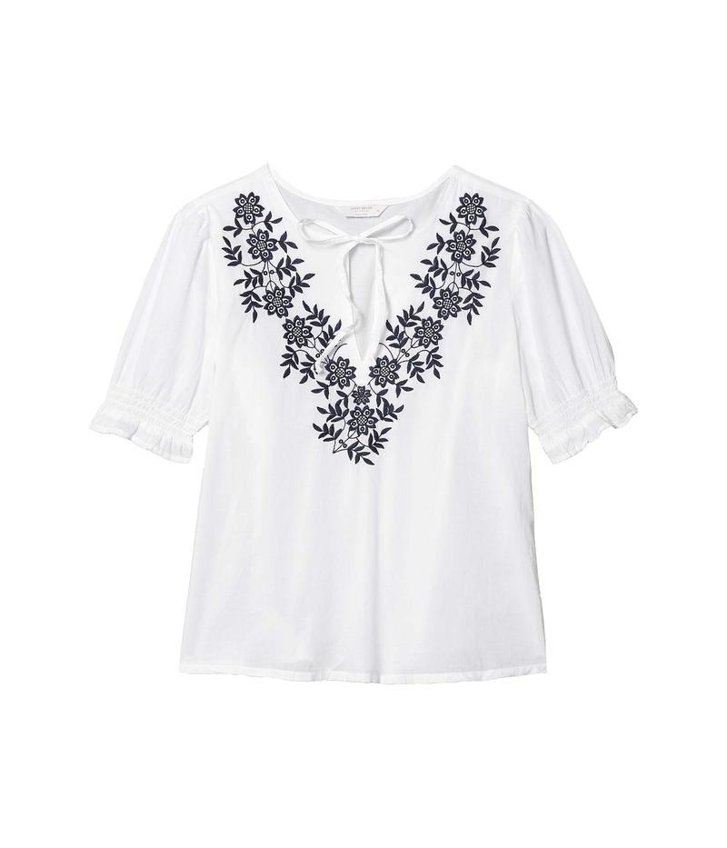 ラッキーブランド レディース シャツ トップス Embroidered Feminine Blouse Bright White