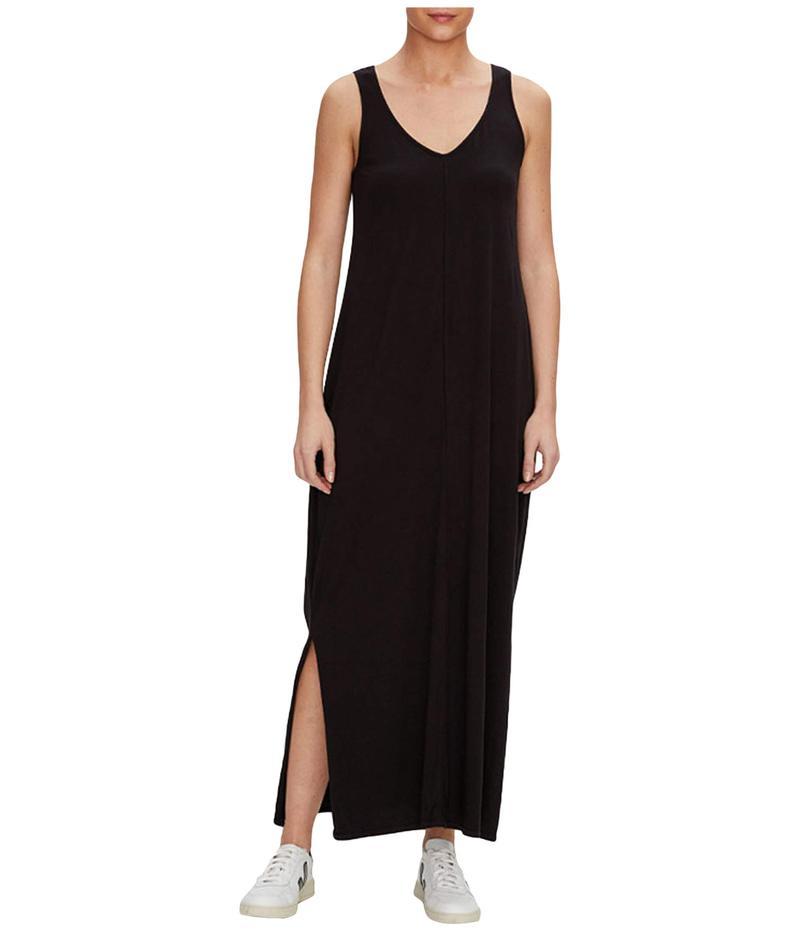 マイケルスターズ レディース ワンピース トップス Trina Cotton Modal V-Neck Maxi Dress Black