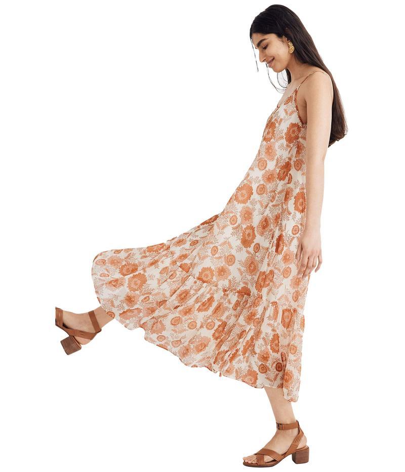 メイドウェル レディース ワンピース トップス Scoop-Back Cami Midi Dress Block Print/Ant