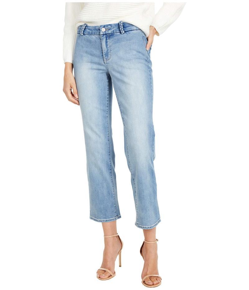 エヌワイディージェイ レディース デニムパンツ ボトムス Marilyn Straight Ankle Jeans with Braided Belt Loops in Clean Coheed Clean Coheed