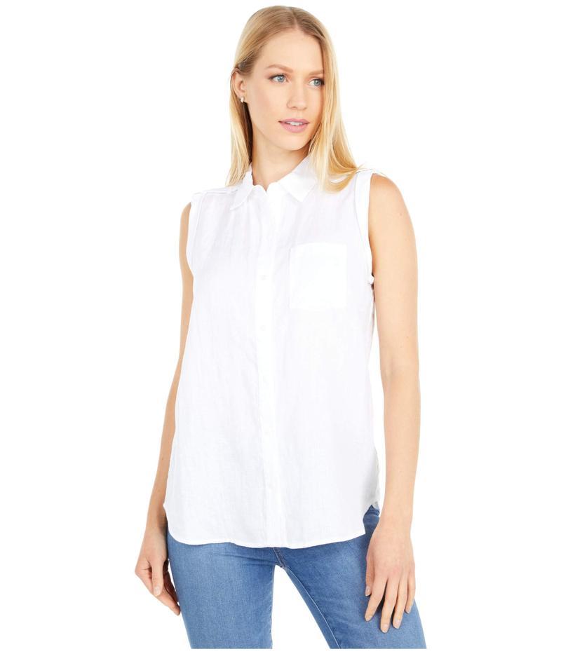 エヌワイディージェイ レディース シャツ トップス Sleeveless Camp Shirt Optic White