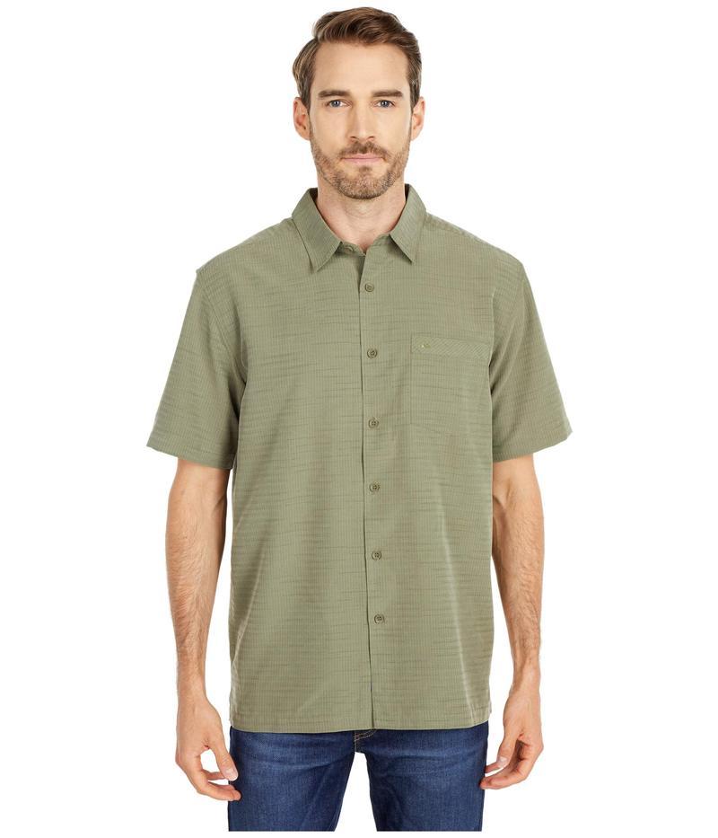 クイックシルバー ウォーター マン メンズ シャツ トップス Centinela 4 Short Sleeve Shirt Deep Lichen Gre