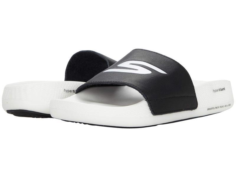 スケッチャーズ レディース サンダル シューズ Go Hyper Slide Black/White