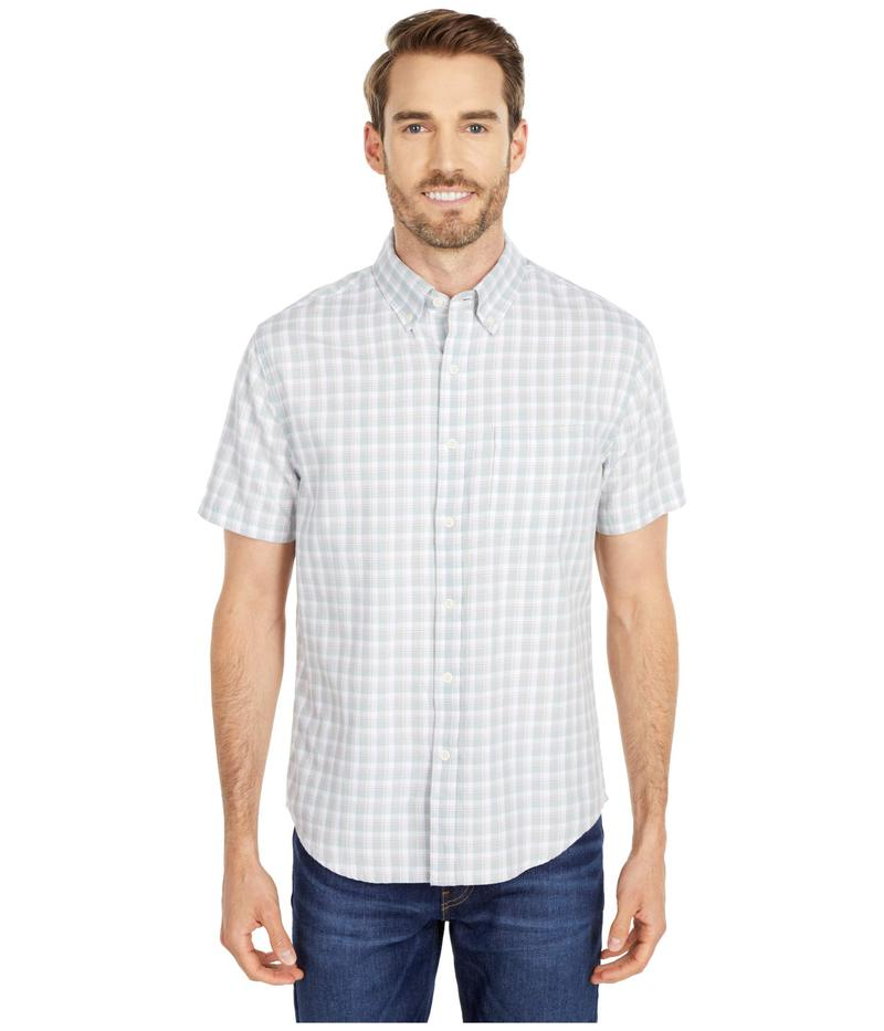 ノーマルブランド メンズ シャツ トップス Short Sleeve Midcoast Button-Down Grey Plaid