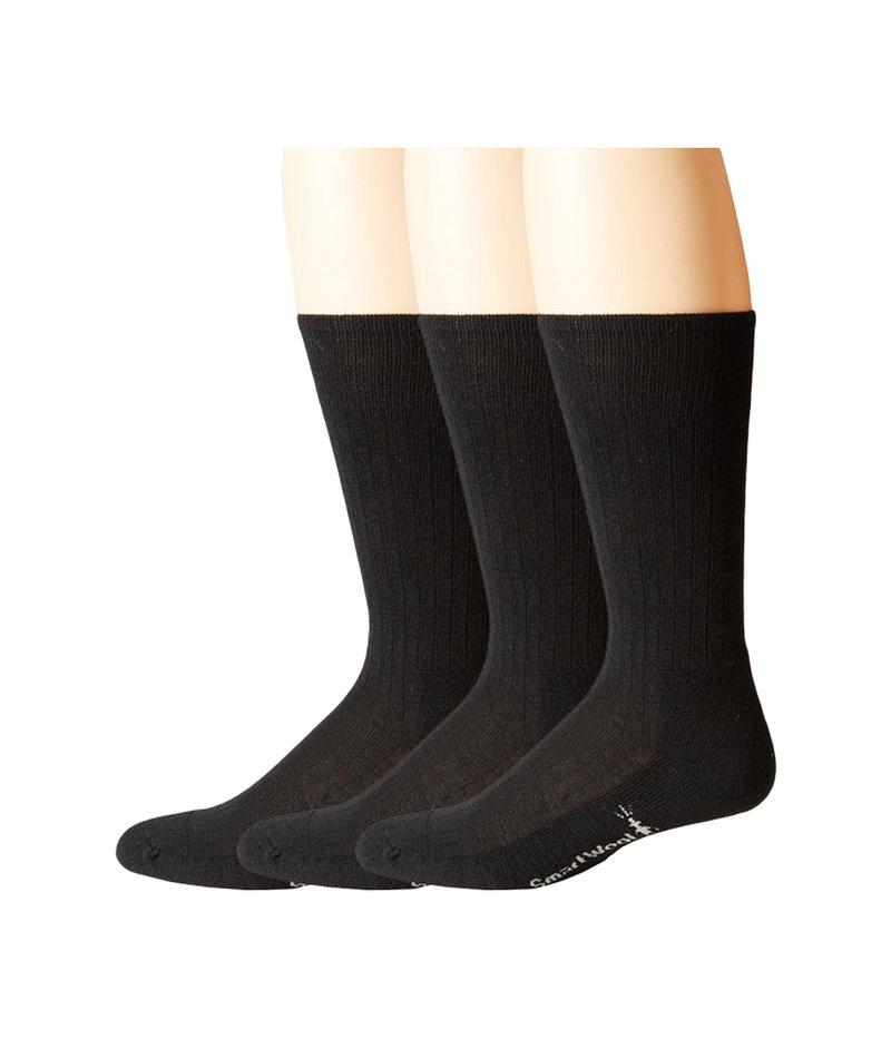 スマートウール メンズ 靴下 アンダーウェア New Classic Rib 3-Pair Pack Black