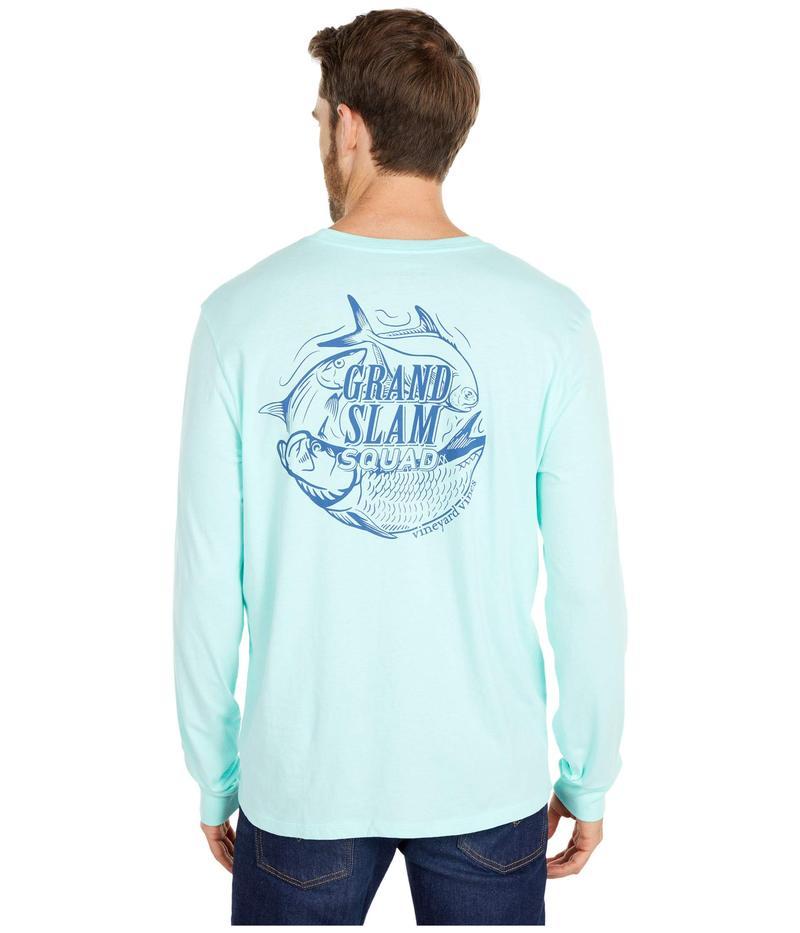 ヴァインヤードヴァインズ メンズ シャツ トップス Long Sleeve Grand Slam Squad T-Shirt Blue Fin
