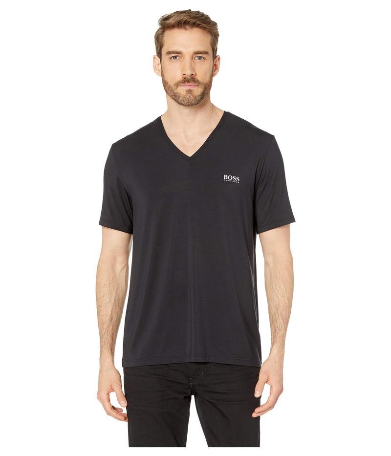 ヒューゴボス メンズ シャツ トップス Comfort T-Shirt V-Neck Black