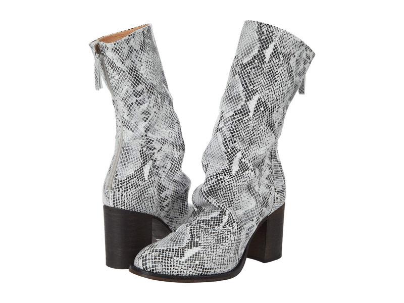 フリーピープル レディース ブーツ・レインブーツ シューズ Elle Block Heel Boot Black/White Com