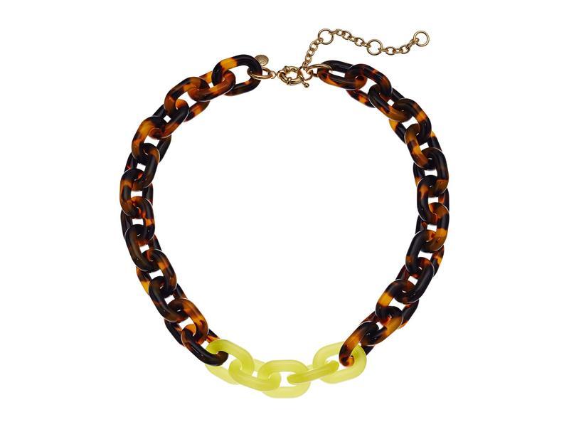 ジェイクルー レディース ネックレス・チョーカー・ペンダントトップ アクセサリー Dips Chain Necklace Tortoise