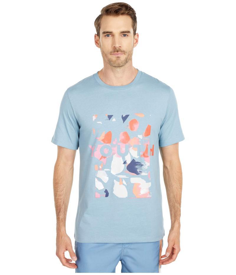 ネイティブユース メンズ シャツ トップス Terrazzo Logo T-Shirt Blue