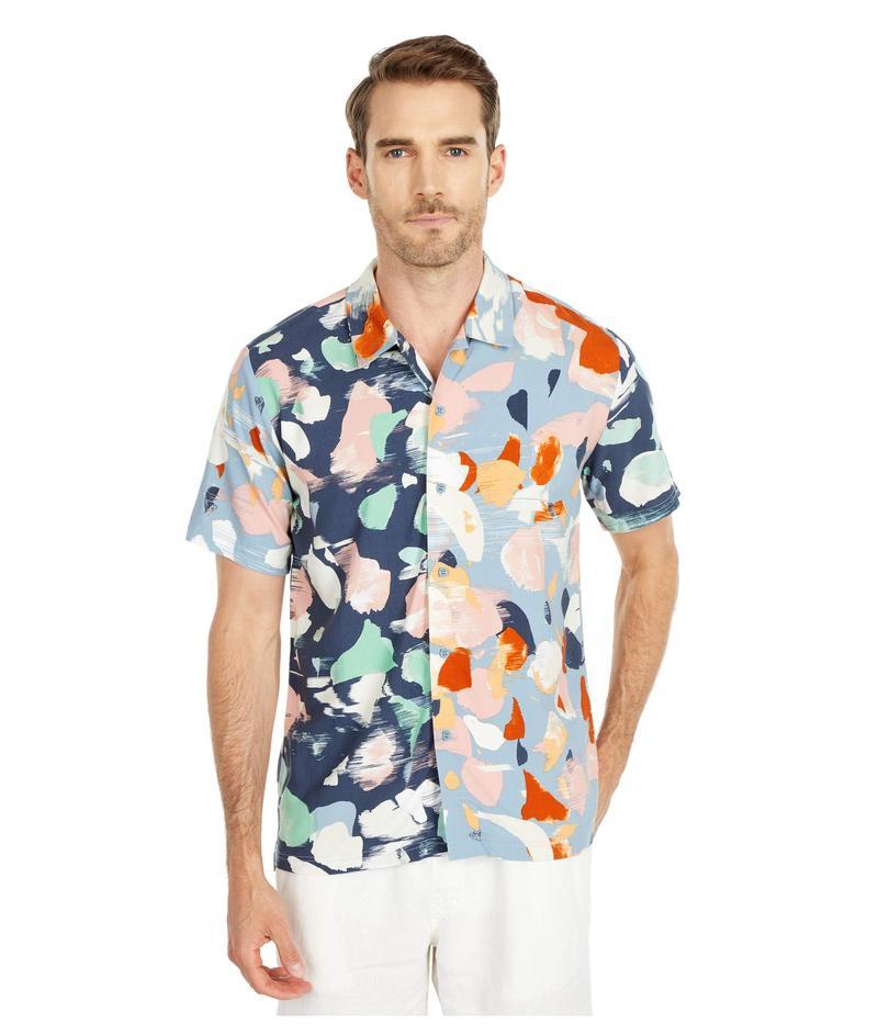 ネイティブユース メンズ シャツ トップス Terrazzo Shirt Navy Multi Prin