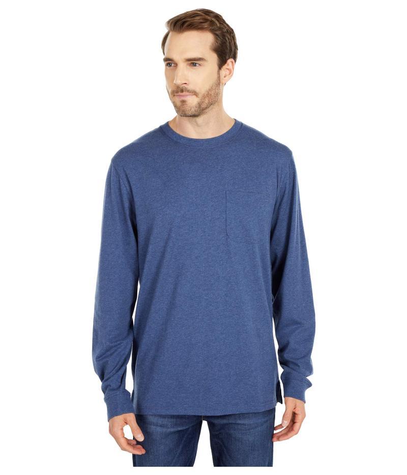 ペンドルトン メンズ シャツ トップス Deschutes Long Sleeve Pocket Tee Navy Blue Heath
