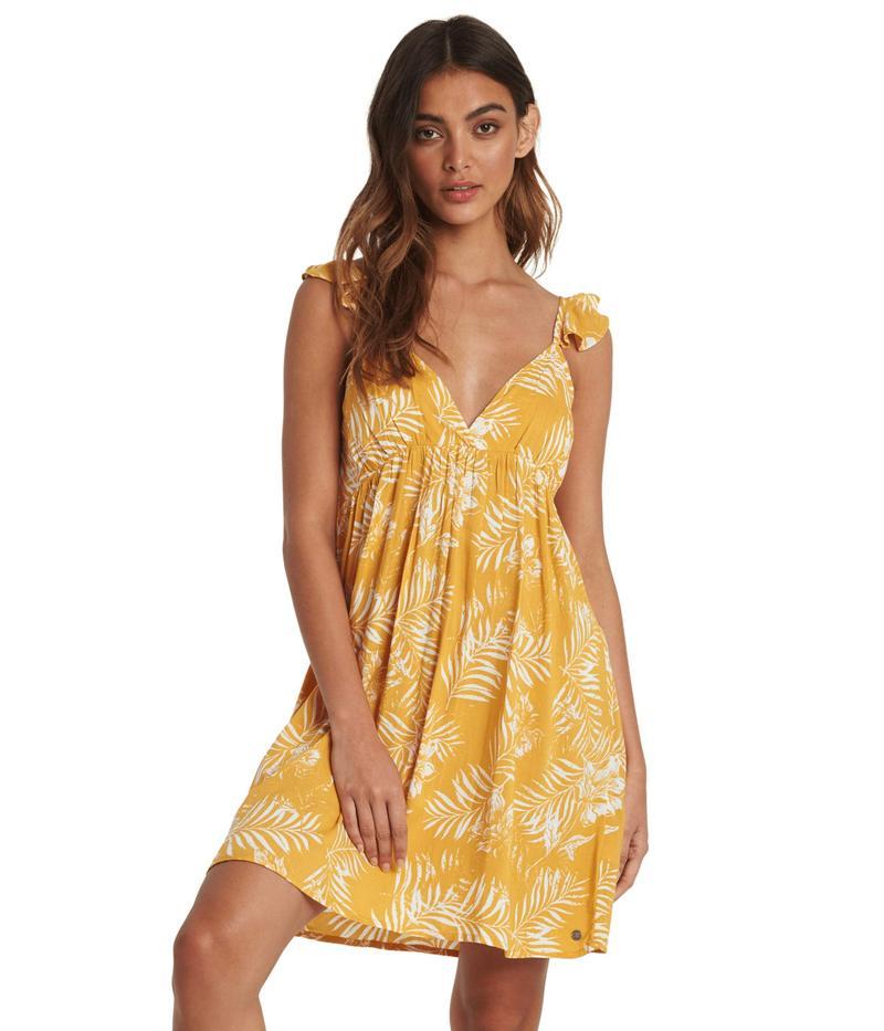 ロキシー レディース ワンピース トップス On A Thought Dress Mineral Yellow