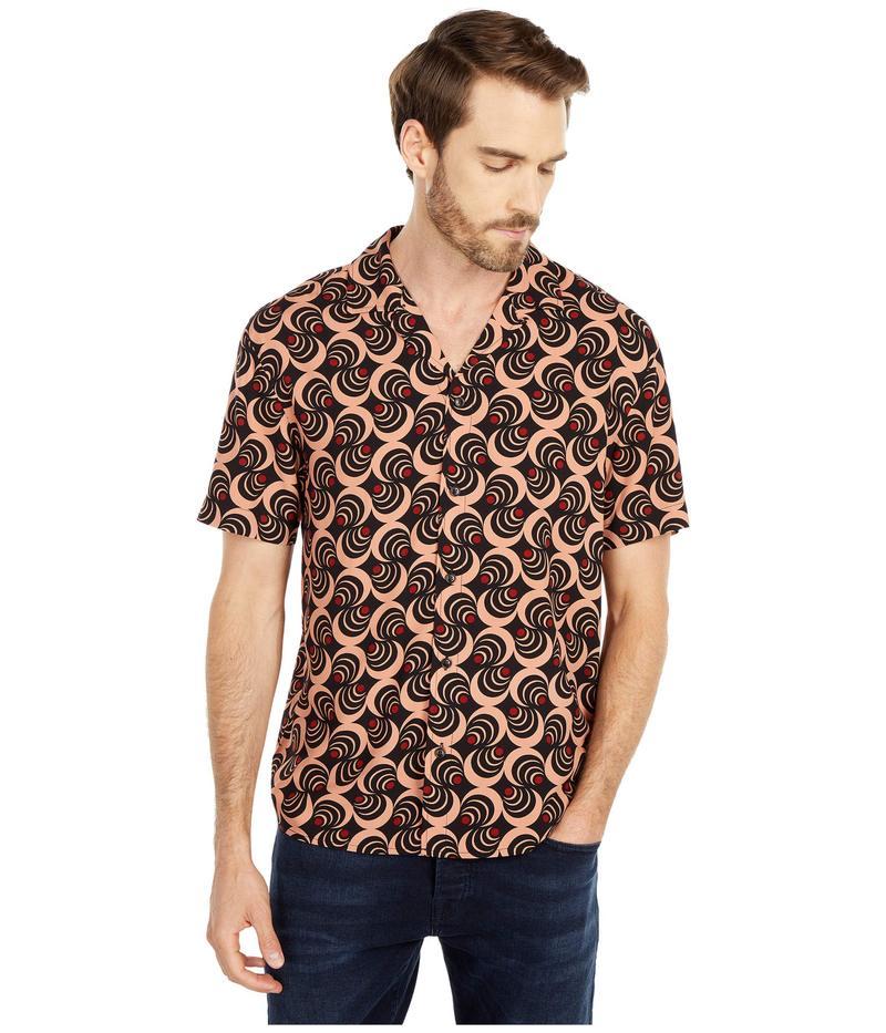 スコッチアンドソーダ メンズ シャツ トップス Lightweight Island Shirt with Prints Combo E