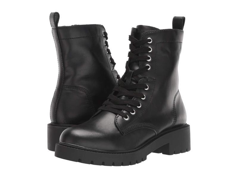 スティーブ マデン レディース ブーツ・レインブーツ シューズ Guided Combat Boot Black Leather