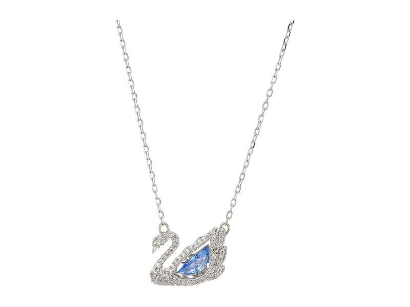 スワロフスキー レディース ネックレス・チョーカー・ペンダントトップ アクセサリー Dancing Swan Necklace CZ Fancy Blue