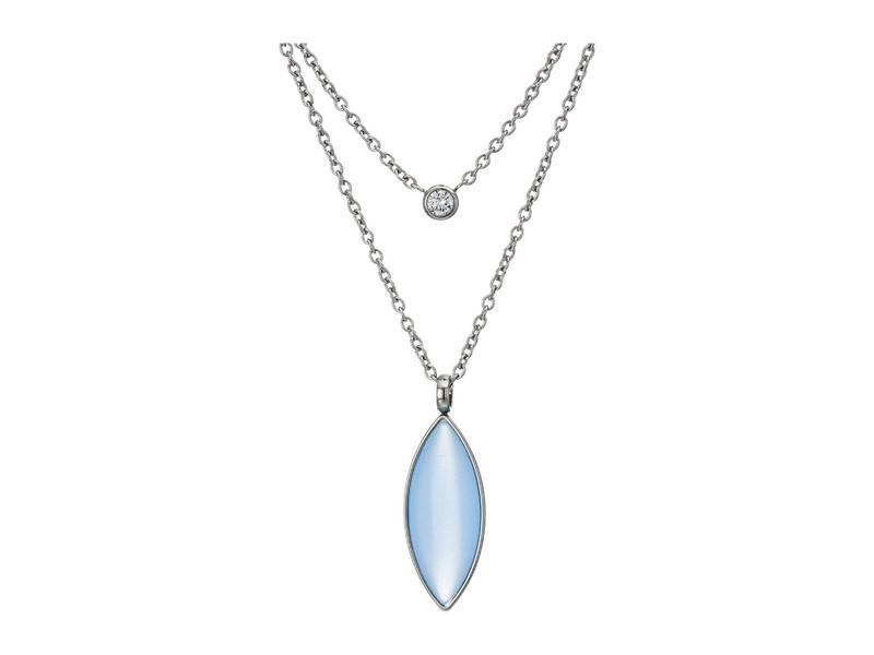 スカーゲン レディース ネックレス・チョーカー・ペンダントトップ アクセサリー Seaglass Silver-Tone Stainless Steel Necklace Silver-SKJ13320