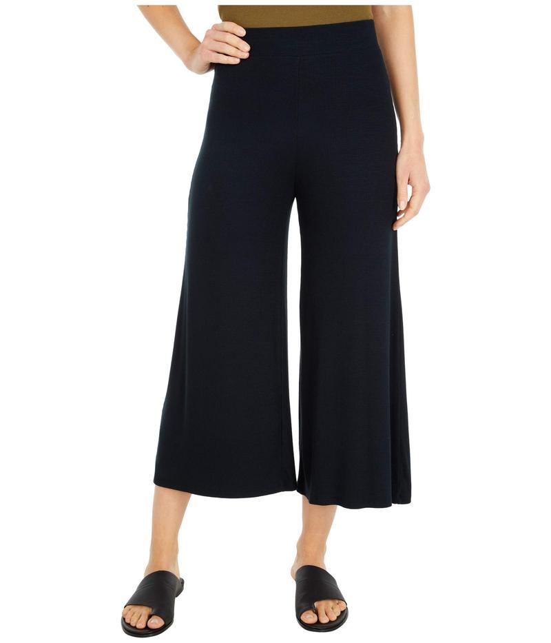 スリードッツ レディース カジュアルパンツ ボトムス Wide Leg Refined Rib Pants Black