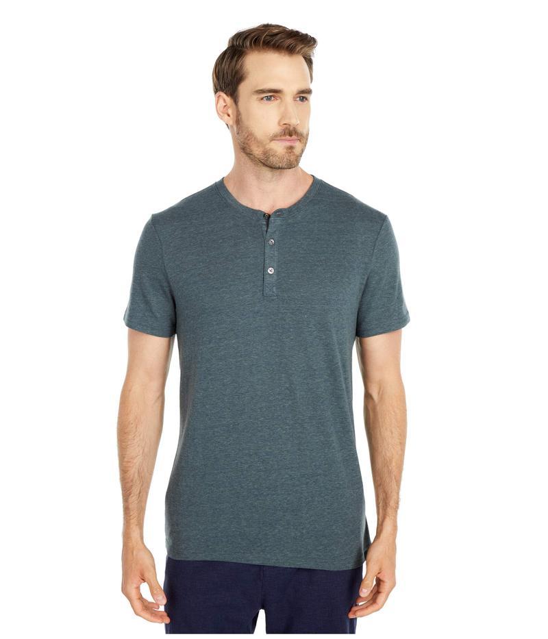 スレッズ・フォー・ソート メンズ シャツ トップス Baseline Short Sleeve Tri-Blend Henley Gunmetal